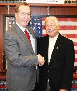 Probate Court Judge Ralph Winkler and William J. Burwinkel