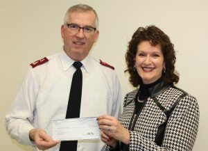 Major Tim Lyle, general secretary of the Salvation Army, with Cindy Givens, HeatShare program manager at Duke Energy Ohio