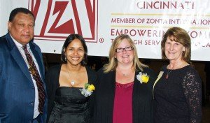 Dr. O'dell Owens with Jackline Singh, Leigh Huy and Zonta president Connie Kingsbury.