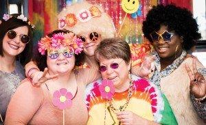 Light Up the Night committee: Tina Freson, Melissa Heine, Kristin Shrimplin, Kathy Davis and Dayna Harper
