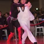 Dancers Bonita Brockert and Conrad Thiede, third place winners