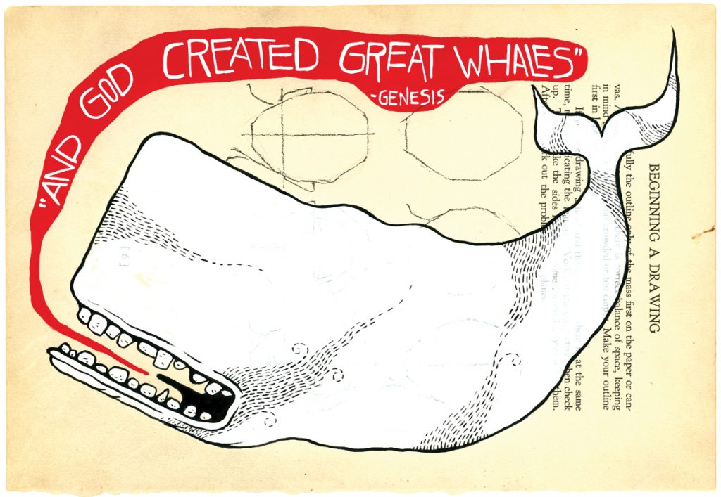 Matt Kish, Moby Dick: Extracts (And God created great whales), 2015