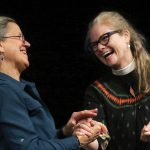 Teepa Snow and the Rev. Canon Sherilyn Pearce of title sponsor Christ Church Cathedra