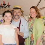 """Jean-Robert and Annette de Cavel, with their daughter Laetitia in Le Jardine, the """"pop up"""" cafe created just for the Flower Show. Complete with French decor, wine and cuisine, the restaurant proved very popular with Flower Show guests."""