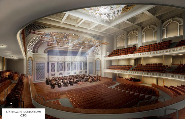 Springer Auditorium rendering: CSO configuration