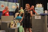Cincinnati Public Radio's Tana Weingartner, volunteer auctioneer