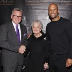 Conductor John Morris Russell, with civil rights pioneer Marian Spencer and Common