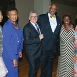 "MAC co-chair Quiera Levy-Smith; Aurelia ""Candie"" Simmons; conductor John Morris Russell; Edgar Smith, chairman and CEOof presenting sponsor WorldPac Paper; Capathia Jenkins; and MAC co-chair Monica Hampton"