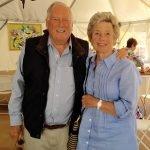 Bob and Sydney Anning lunching at LeJardin