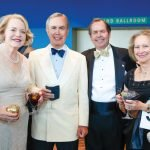 Anne and Allen Zaring, former honorees, with Tim and Julie Zaring