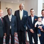 Honorees Rabbi Gary Zola, Ralph Brown (widower of Iva Brown), Edgar Smith, James Musuraca-Messer and Ryan Messer