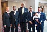 Honorees Rabbi Gary Zola, Ralph Brown (widower of Iva Brown), Edgar Smith, James Musuraca-Messer and Ryan Messer