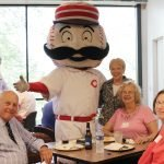 Mike Schueler, Mr. Redlegs, Karlee Hilliard, Emily Hodges and Digi Schueler