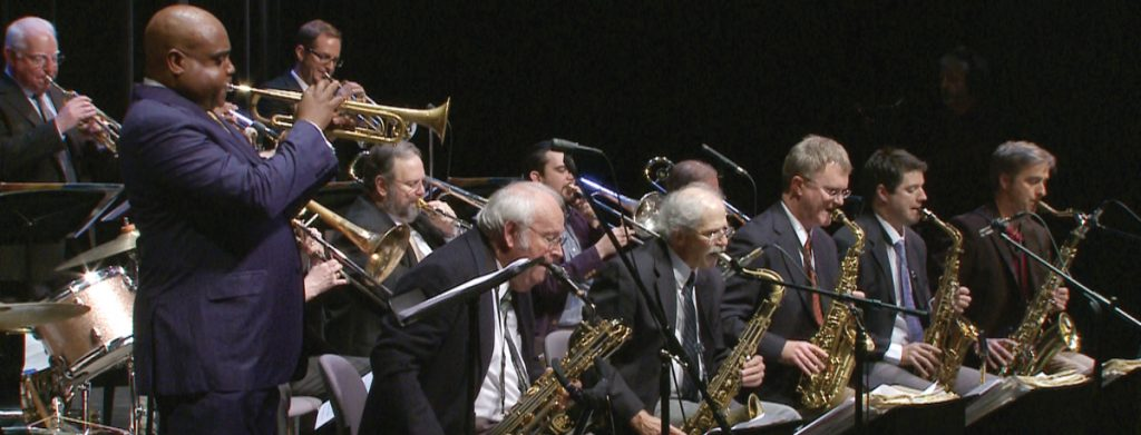 The first episode features the Blue Wisp Big Band with guest soloist Terrell Stafford.