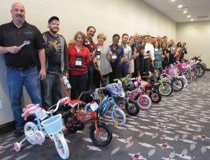 The team that built the bikes