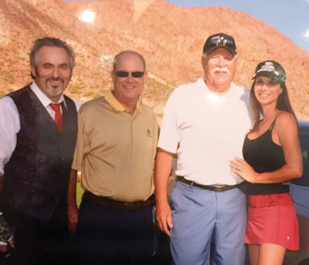 "At the 2015 Hyundai Invitational: Golf commentator David Feherty; Stepping Stones Golf Classic winners Ken Heil and Dave Wurtenberger; and Debbie Dunning from the TV show ""Home Improvement"""