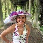 Julie Whitney, winner of Derby Hat Contest