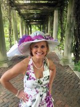 Julie Whitney, winner of Derby Hat Contest
