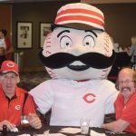 Mr. Red with Gary and Rob, residents of The Point's residential program