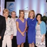 Mark Kleespies, Jane Hoffman, Barb Momper, keynote speaker Laura Ingraham, emcee Mary Massa, Elaine Parker and Angela Homm