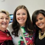 Event co-chairs Martha Millett and Gina Goings, with Springer development specialist Kirstin Eismin