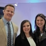 Springer alumnus Mike Wright with event speakers Caroline Feldhaus Harten and Emily Moorhead