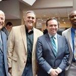 Bill Burwinkel, Bill Wesley, Mayor John Cranley and Harold Howard