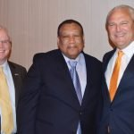 Bryan Kroeger, Dr. O'dell Owens and Mike Prescott