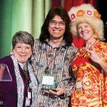 Kathy Davis, honoree LunaMan, Kristin Shrimplin
