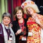 Event chair Kathy Davis; Teri Letsinger of honoree Blank, Rome LLC; Kristin Shrimplin, WHW president and CEO