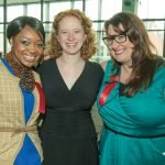 YWCA Rising Stars Meeka Owens and Kate Malo, YWCA Rising Star with Jennifer Day, of the YWCA