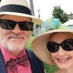Thom Mariner's hat is from Batsakes Hat Shop, downtown Cincinnati; Eliabeth Mariner's hat is from Sante Fe with a vintage scarf