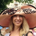 LaVaughan Cottell's vintage straw hat with black lace, beading and rhinestones is borrowed from a friend