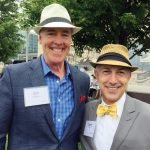 Bill Kelleher and Larry Post of luncheon sponsor PNC Bank