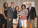 Fox19 anchor/reporters Jessica Brown and Dan Wells, PreventionFIRST! president/CEO Mary Haag, honoree Deanna Shores, U.S. Sen. Rob Portman