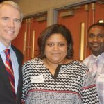 U.S. Sen. Rob Portman, honoree Deanna Shores, Terry Shores