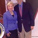 Kay Geiger and former Gov. Bob Taft