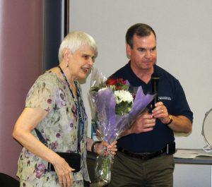 Paula Jordan and John Mitchell, CEO of CABVI