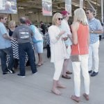 Guests outside the hangar