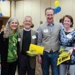 Rev. Nancy Hopkins-Greene, Rev. Roger Greene and Erick and Ellen Harback