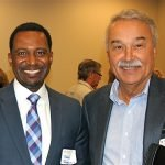 Sean Rugless, Red Cross board member, and Alfonso Cornejo, president of the Cincinnati USA Hispanic Chamber