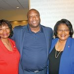 Delores Hargrove-Young, new Red Cross board chair; Ralph Lee, board member; and Elvia Price, Red Cross chief chapter services officer