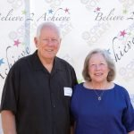 David Axt with his wife Susan Wilkinson, silent auction chair