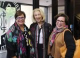 Gloria Lipson, member of the HUC-JIR board of governors, with Roz Harkavy and Ellen Wyler