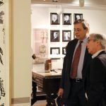 Dan Hoffheimer, member of the HUC-JIR board of overseers, and Stuart Fabe, son of Cincinnati artist Robert Fabe