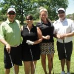 Alan Paschal, Jill Baldus, Ladies Longest Drive and Closest to the Flagstick winner Katie Klabunde, Anthony Philphot