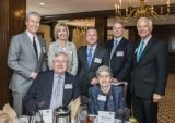(Back) Terry Lundgren, Amy Hanson, Paul Varga, 2016 campaign chair Ted Torbeck and David Faulk; (front) Jim Sluzewski and Phyllis Sewell