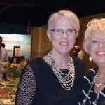 Susan Redman-Rengstorf, regional development officer at the American Red Cross, and Patti Alderson, National VOA Museum of Broadcasting board member