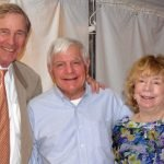 Jack Dominic, executive director of the VOA museum (center) with Larry and Barbara Kellar
