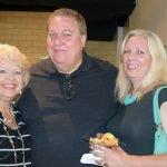Board members Patti Alderson and Joe Gruber, with Diane Gruber